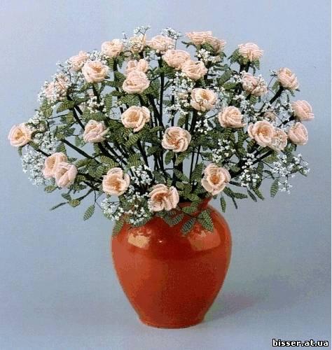 схема плетения роз из бисера. розы из бисера схемы.