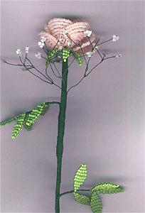 Цветы из бисера - схемы плетения.